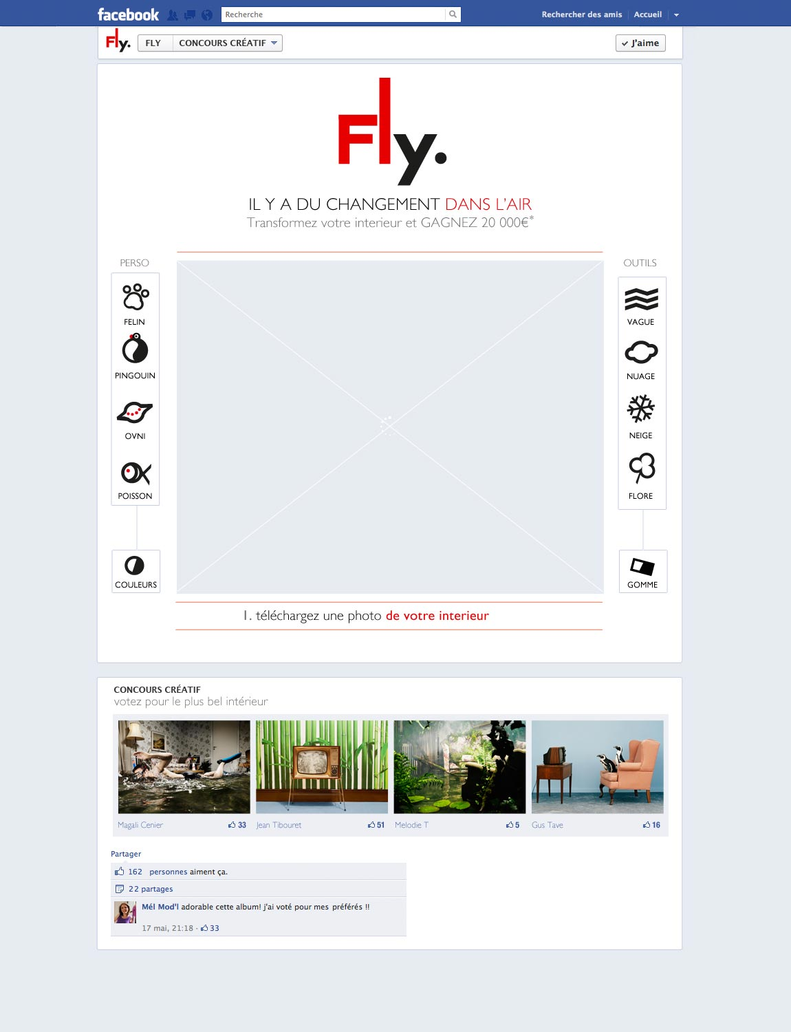 Fly jeux Facebook